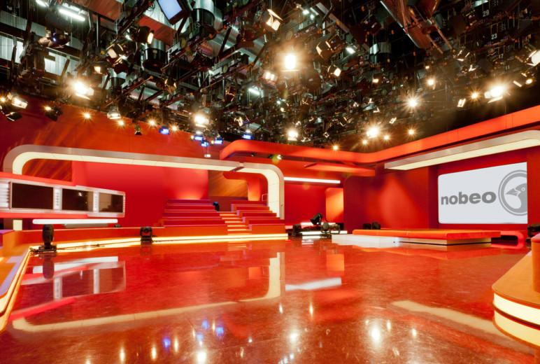 Das Fernsehstudio ist bereit