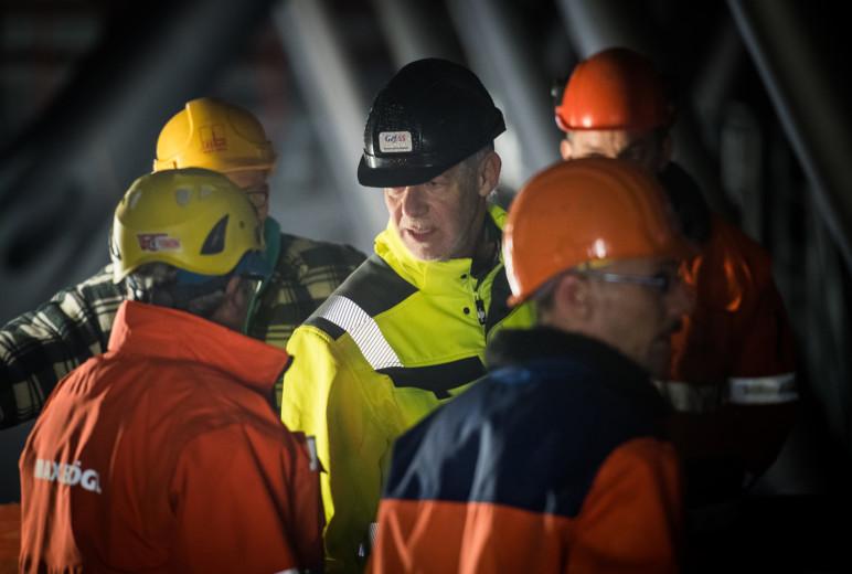 Arbeitsicherheit an der Schiersteiner Brücke