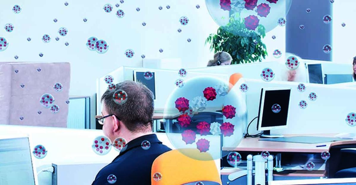 Eine Mindestluftfeuchte kann die Ausbreitung und das Überleben von Viren am Arbeitsplatz eindämmen.