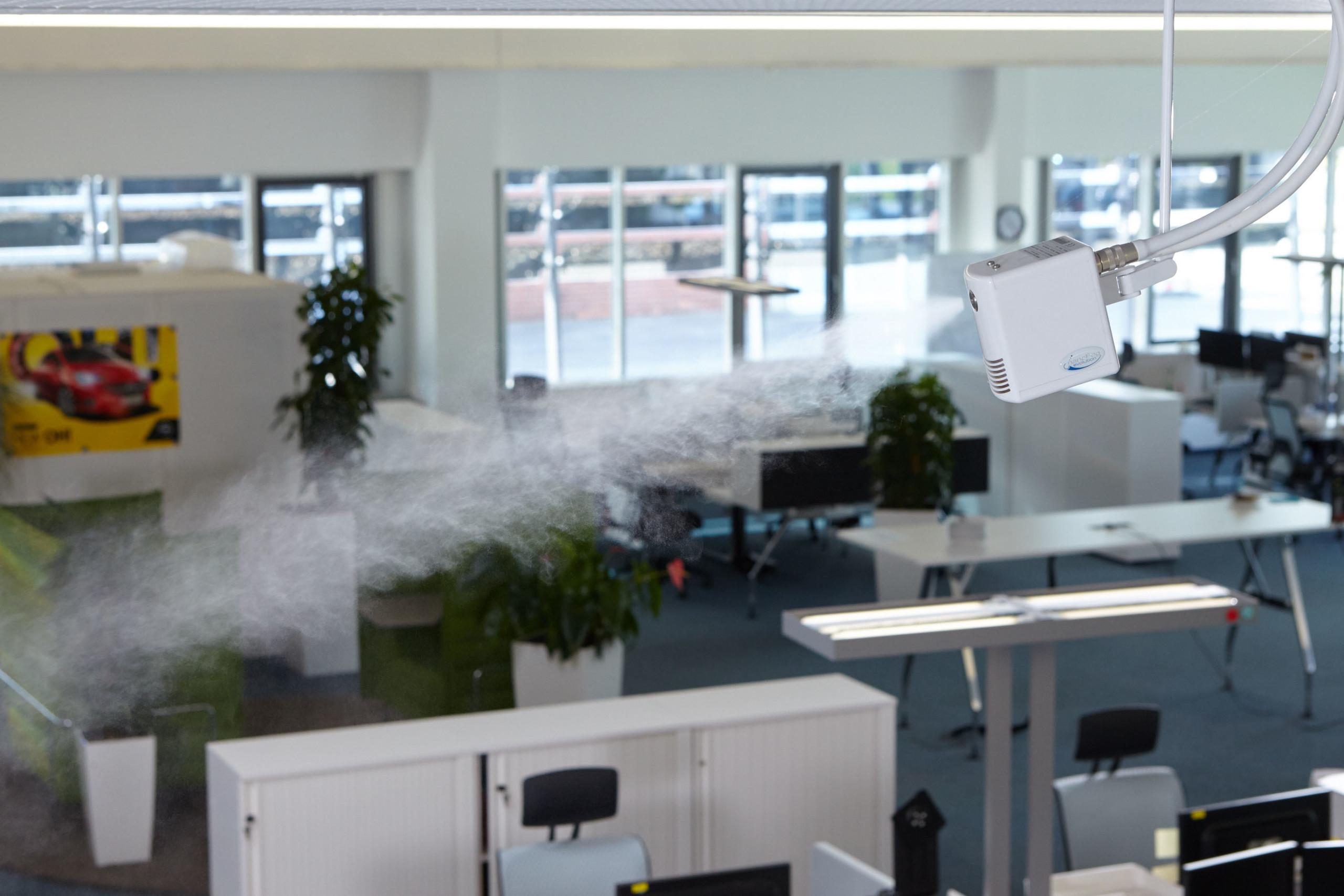 Luftbefeuchtungssysteme sichern eine ganzjährig kontrollierte Luftfeuchte in Gebäuden