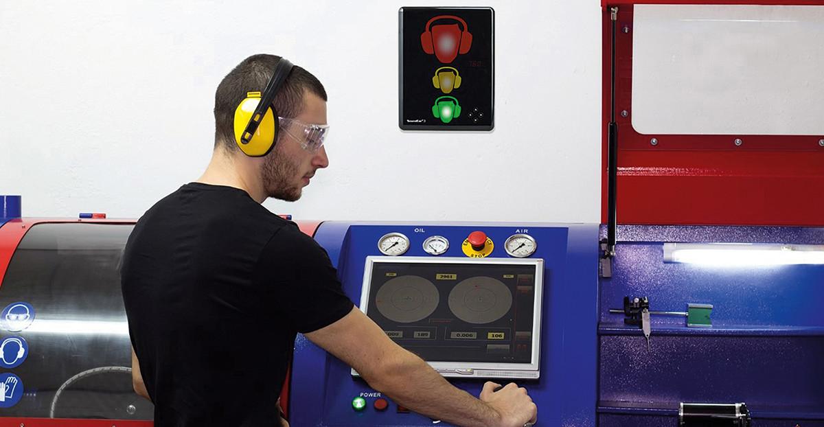Ampelsystem gegen Lärm