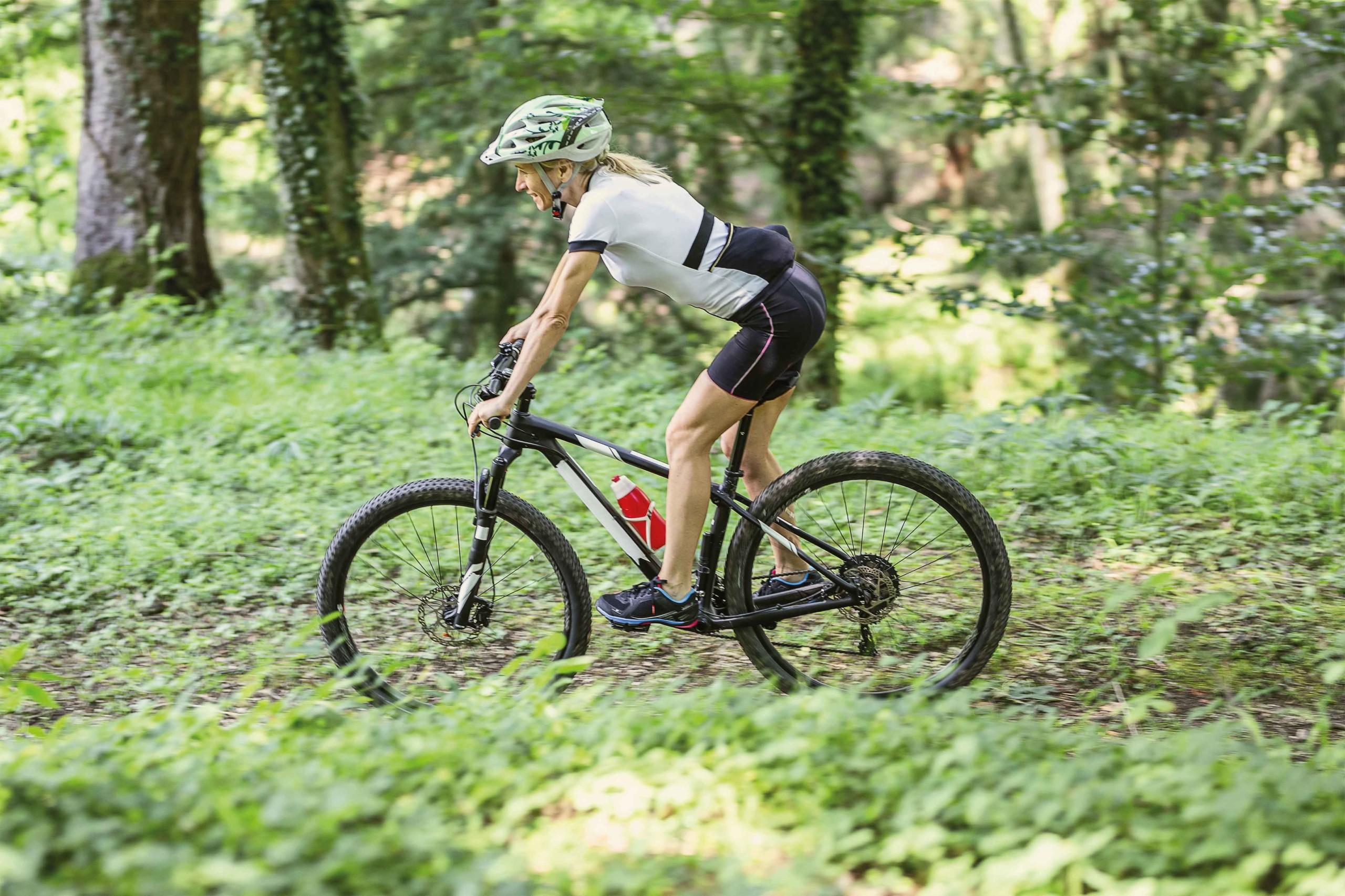 Karin am Wochenende mit dem Mountainbike