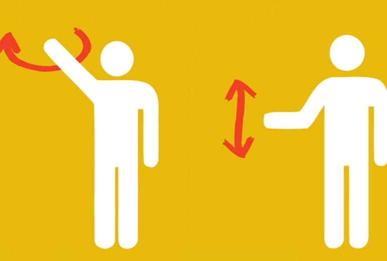 Grafik: Handzeichen